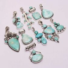Larimar Gemstone Handmade Wholesale 10 pcs Lot Pendant Jewelry Lot-1007