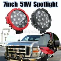 7inch 51W Round LED Work Light Spot Light Offroad SUV Car Truck Boat ATV