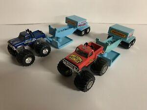 Matchbox Monster Trucks With RARE Pulling Sleds
