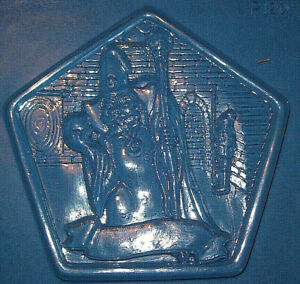 PENTAGON SHAPE WITH A WIZARD IN A CASTLE CHOCOLATE MOULD OR PLASTER MOULD