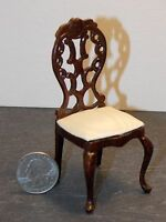 Dollhouse Miniature Bespaq Elegant Dining Chair Mahogany 1:12 inch scale  K19