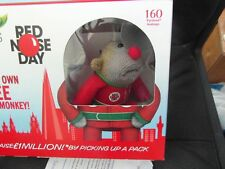 Boxed Comic Relief Red Nose Day J Vegas Monkey TV Advert Knitted Official tag