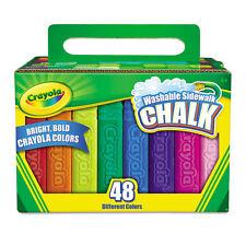Washable Sidewalk Chalk, 48 Assorted Bright Colors