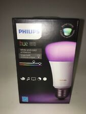 Philips 464487 Hue White Color Ambiance LED Bulb 3rd Gen Works with AmazonAlexa