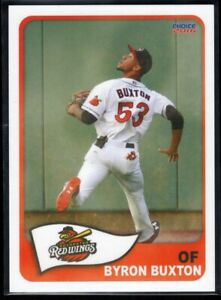 BYRON BUXTON  MINORS PRE ROOKIE  2016 CHOICE ROCHESTER RED WINGS #05