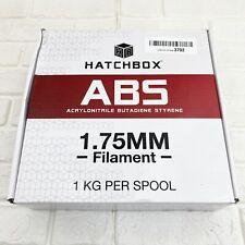 HATCHBOX ABS 3D Printer Filament, 1 kg Spool, 1.75mm, White, NEW SEALED