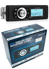Aquatic Av MP6 Shallow Mount Waterproof Radio Bluetooth Marine Stereo
