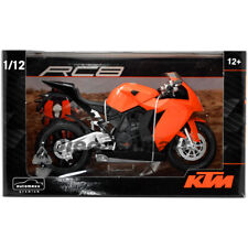 AUTOMAXX 600601 1:12 KTM RC8 V-TWIN SUPERBIKE DIECAST SPORTBIKE ORANGE NEW