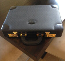 VINTAGE GUCCI BLACK LEATHER GUCCI HARD-SIDED BRIEFCASE