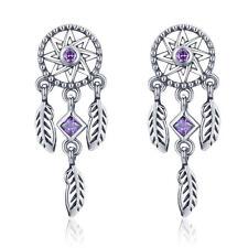 Dream And catcher 925 Sterling Silver Earrings Charm Fit Women Bracelet Jewelry