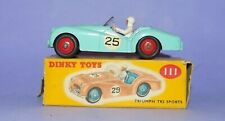 * VINTAGE * 1956-1959 * DINKY TOYS * NO 111 * TRIUMPH TR2 SPORTS CAR *