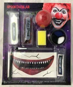 Halloween Scary Killer Clown Makeup Set Body Paint Kit Horror Tatto