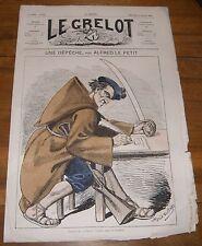 Le Grelot Journal Satirique N°118 une Dépêche Par Alfred le Petit du 13/07/1873