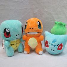 3pcs Pokemon Bulbasaur Charmander Squirtle Plush Doll FigureToy Xmas Gift