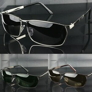 Polarisiert Sonnenbrille Rectangular Metallrahmen UV400 Herren Außen SPORTS