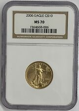 2006 $10 1/4 oz Gold Eagle NGC MS70