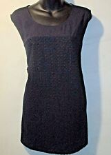 Top 1X Plus Calvin Klein $69 REDUCED PRICE Navy Blue Lace Panel Tank NWT BR267