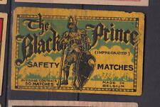 Ancienne étiquette  allumettes Belgique    AZ5664 Chevalier Noir   5