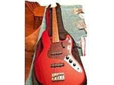 Fender Custom Jazz Bass Guitar Candy Apple Red - USA - NECK Serial # = 1966/67