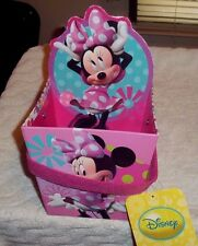 "Disney Minnie Mouse and Daisy Paperboard Bucket Gift Basket Room Decoration 6"" W"