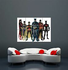 COMIC BOOK CHARACTERS BATFAMILY BATMAN ROBIN GIANT ART POSTER PRINT  WA481
