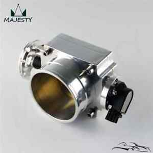 90mm Throttle Body With TPS Sensor For Toyota Supra 1JZ / 2JZ Silver / Silver