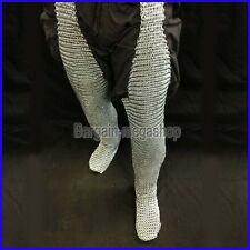 Chain Mail Leggings Butted Chainmail Chausses Galvanized Leg Cowboy Costume