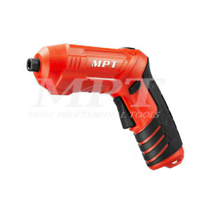 """MPT Cordless Drill Driver Screwdriver 1/4"""" Hex with Charger"""