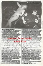 Debbie Harry (BLONDIE) Australian concert review 1990 UK ARTICLE / clipping