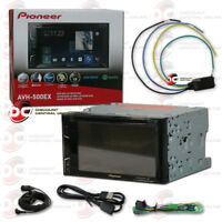 "PIONEER DOUBLE DIN HEAD UNIT 6.2"" CAR IN-DASH DVD CD BLUETOOTH FREE VIDEO BYPASS"