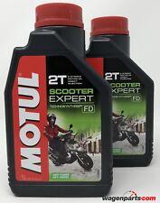Aceite Moto Mezcla Premix 100% sintético MOTUL Scooter Expert 2T, pack 2 litros