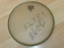 MIKE HUGG BLUES BAND SIGNED DRUMHEAD