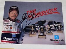 Dale Earnhardt '90 CHEVY RCR INTIMIDATOR 3X CHAMP VINTAGE signed 8x10 HERO photo