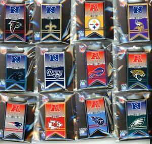 2017 / 2018 NFL Playoff Banner Pin Choice 12 Pins Playoffs Super Bowl 52 LII