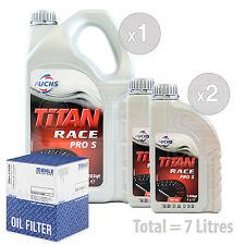 Engine Oil and Filter Service Kit 7 LITRES Fuchs Titan Race Pro S 5W-40 7L