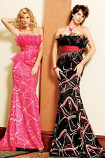 NWT$320 PARTY TIME 6142 pageant evening prom formal occasion peplum dress PINK 6