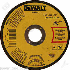 "5 pc Dewalt DWA8051 Metal Cut Off Wheel 4-1/2 x 7/8 x .045"" for DW8062 DWA4531"