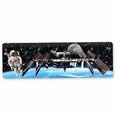 Ruler Bookmark Astronaut Space Station Earth  6 Inch 3D Lenticular #RU06-405#