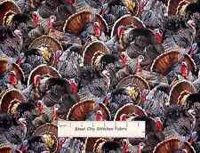Thanksgiving Turkey Bird Fowl Elizabeths Studio Birds Flight Cotton Fabric - 32""