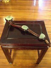 Antique/Vintage Jade And Walnut Ruyi With Prayer Bead/Tassle Decoration!