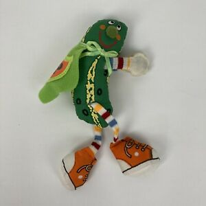 """VTG 1982 Amtoy Super Pickle Clip On 80s Plush Toy 6"""" American Greetings Hugger"""