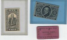 3 Vintage Philadelphia, Pa transit tickets, Spruce & Pine St., Ridge Ave. Rwy Co