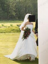 Designer Wedding Dress and veil size 10