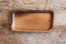 Handmade Wooden Rectangular Plate Tray Natural Brown Dining Centrepiece Oblong
