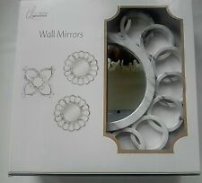 TrueLiving Essentials Set Of 3 Wall Mirrors Marbled Gray and White NEW in Box