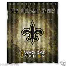 Personalized New Orleans Saints Football 60 x 72 Inch shower curtains Bath
