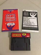 Game Genie Video Game Enhancer (Super Nintendo, SNES) w Codebook Manual & Update
