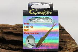 Gamakatsu Dropshot Rig Allround Länge 1,70m Hakengröße 2/0 0,39mm Fluorocarbon