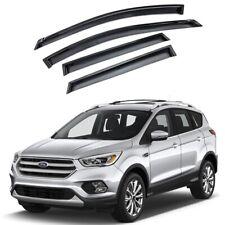 For 2013-2019 Ford Escape 4pcs Smoke Acrylic Window Sun Rain Visors Wind Guard