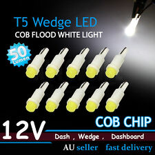 10x T5 COB Convex Lens White Dashboard Gauge Flood LED Wedge Dash Panel Lights